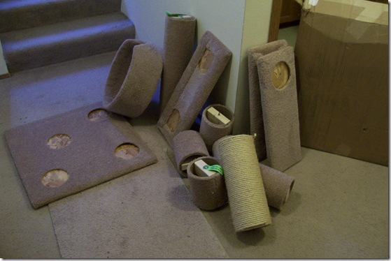 unassembled cat furniture