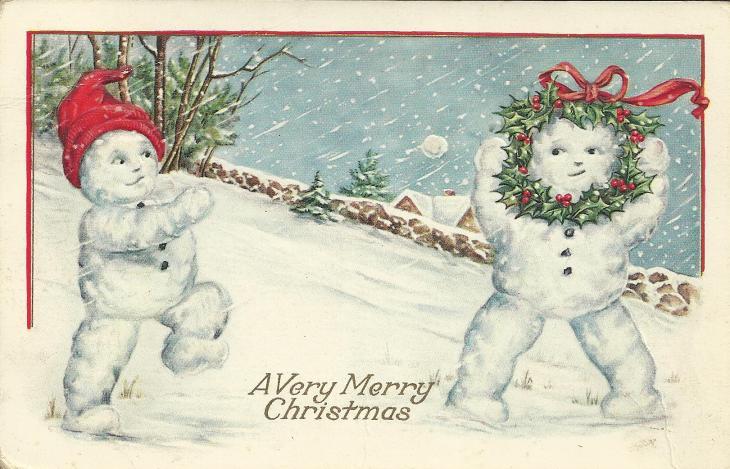 Christmas postcard 1923