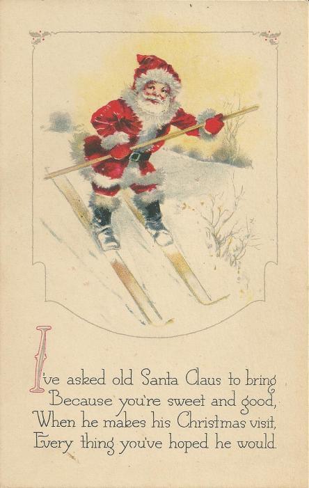 Christmas postcard 1920