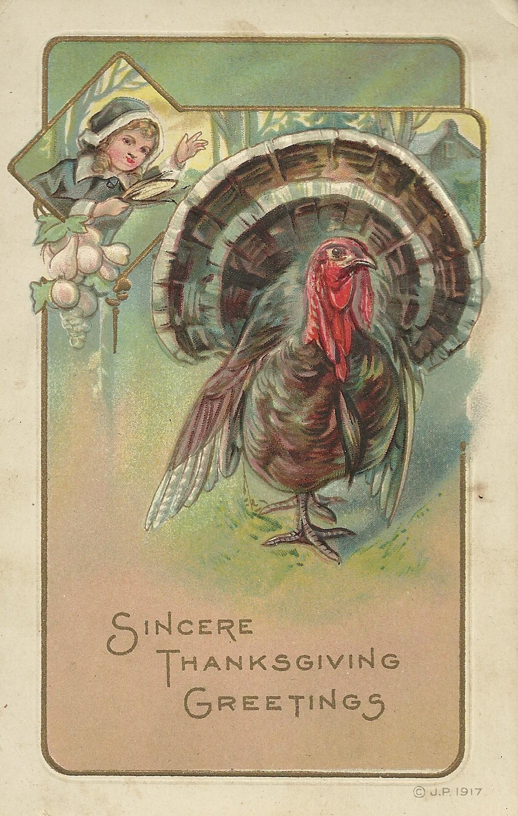 Thanksgiving postcard 1921