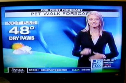 Seattle KCPQ 13 Weather forecast with Erin Mayovsky