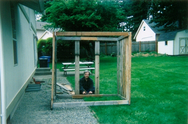 reassembling the catio