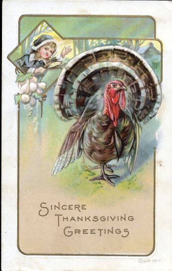 1917 Thanksgiving postcard