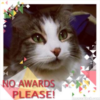 no awards please!