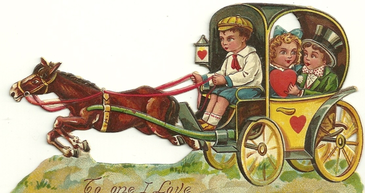 horse and carriage valentine
