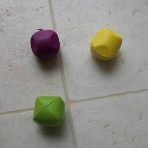 three cat toy balls