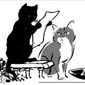 felinecafe logo greyscale