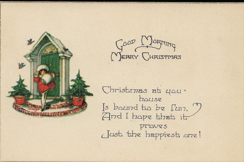 1924 Christmas Postcard