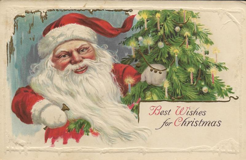 Santa postcard 1921