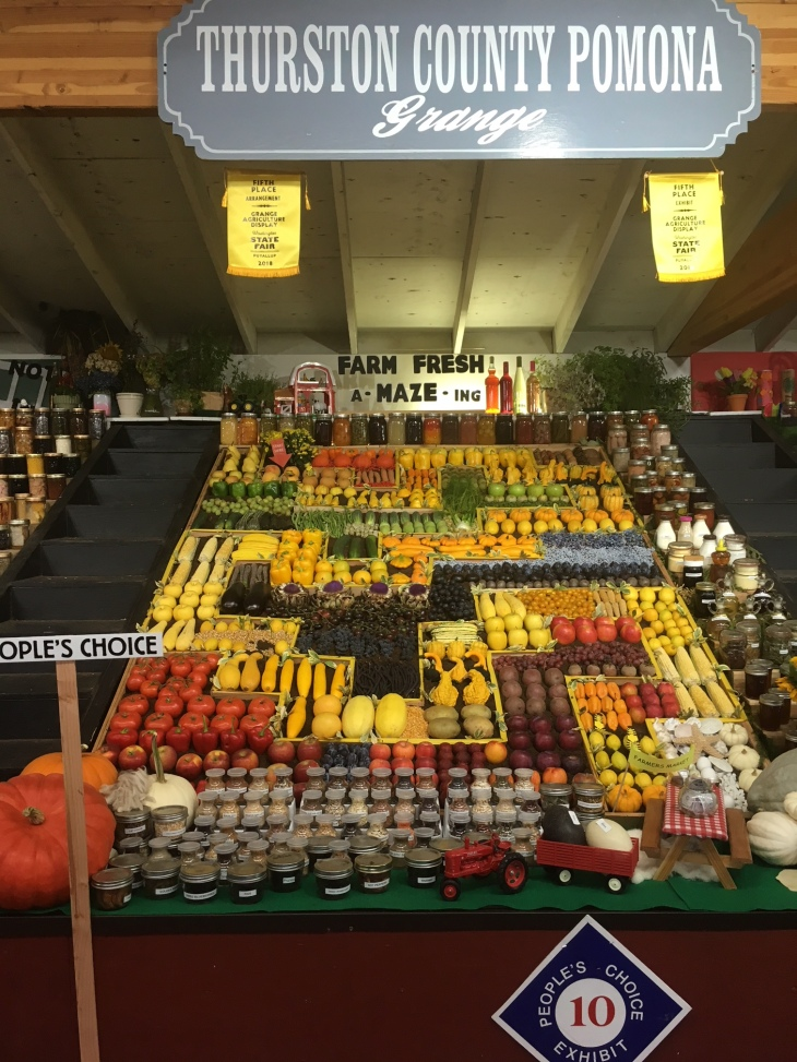Thurston County Grange farm produce exhibit