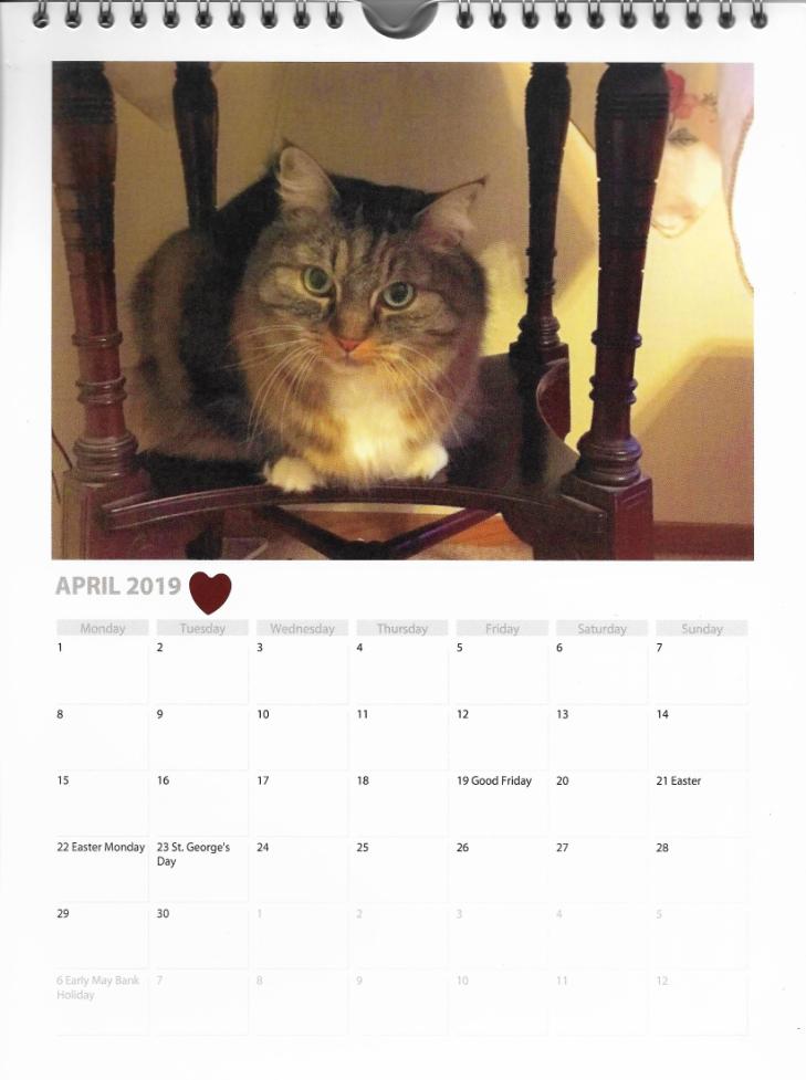 Opie April Calendar