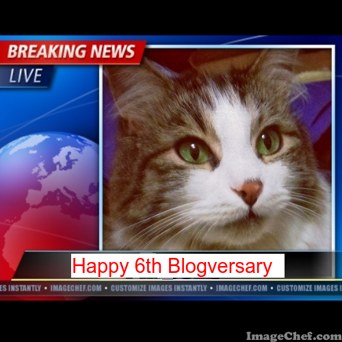 Breaking News Happy 6th blogversaray Zeke